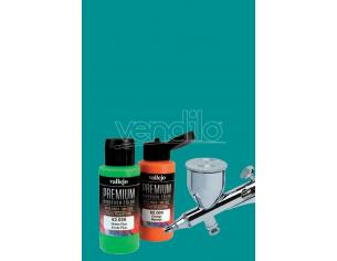 VALLEJO PREMIUM AIRBRUSH BLUE GREEN 62012 COLORI
