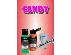 VALLEJO PREMIUM AIRBRUSH CANDY RED 62074 COLORI