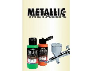VALLEJO PREMIUM AIRBRUSH METALLIC MEDIUM 62041 COLORI