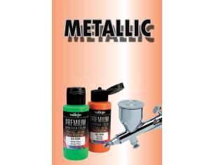 Vallejo Premium Airbrush Metallolic Arancione 62043 Colori