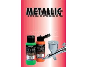 Vallejo Premium Airbrush Metallolic Red 62044 Colori