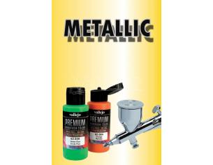 VALLEJO PREMIUM AIRBRUSH METALLIC YELLOW 62042 COLORI