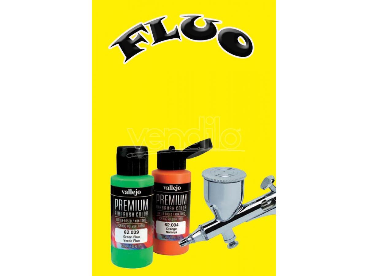 Vallejo premium airbrush yellow fluo 62031 colori san marino for Colori fluo