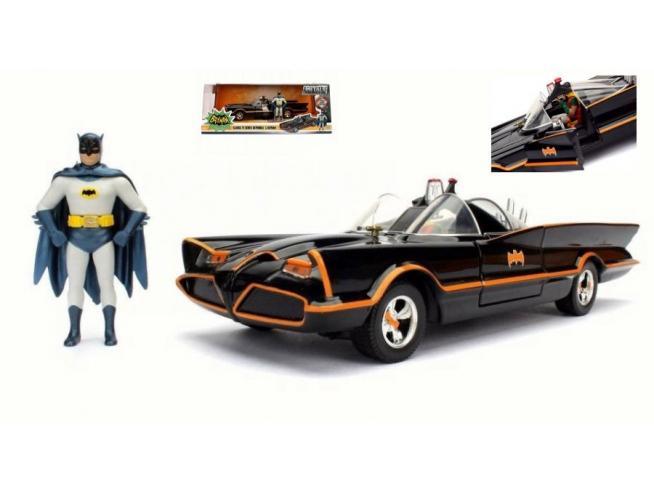Jada 98259 BATMOBILE 1966 CON FIGURA BATMAN + ROBIN 1:24 Modellino