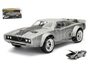 Jada 98291 DOM'S ICE DODGE CHARGER R/T FAST & FURIOUS GREY 1:24 Modellino
