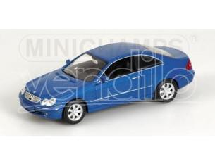 MINICHAMPS 400031422 MERCEDES BENZ CLK COUPE' 2002 BLUE METALLIC Modellino