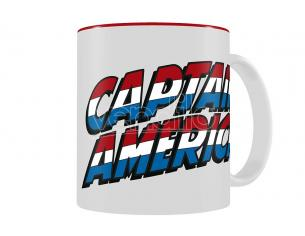 SD TOYS MARVEL CAPTAIN AMERICA LOG WHITE-RED MUG TAZZA