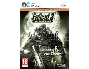 FALLOUT 3 GAME ADD ON 2 BROKEN STEEL AZIONE - GIOCHI PC