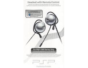 PSP SONY HEADSET + TELECOMANDO 1000 CUFFIE