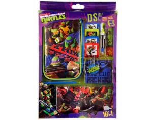 KIT 16 ACCESSORI NINJA TURTLES ALL DS CUSTODIE/PROTEZIONE
