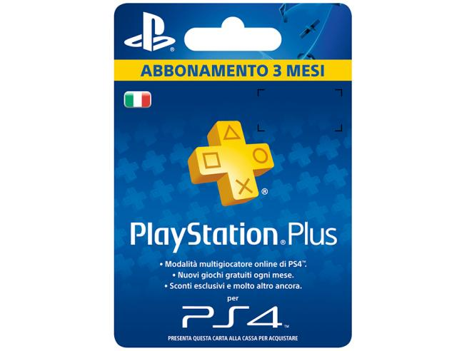 SONY PSN PS PLUS HANGING CARD 3 MESI PLAYSTATION NETWORK - CARDS/DLC