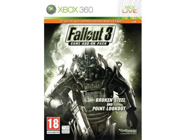 FALLOUT 3 GAME ADD ON 2 BROKEN STEEL AZIONE - XBOX 360