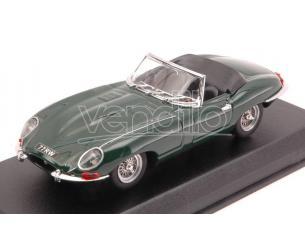 Best Model BT9028-2V JAGUAR E TYPE SPYDER ENGLISH VERSION 1962 GREEN 1:43 Modellino