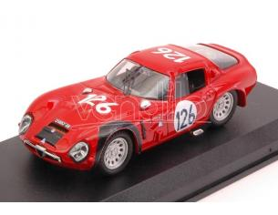 Best Model BT9105 ALFA ROMEO TZ2 N.126 4th TARGA FLORIO 1966 E.PINTO-N.TODARO 1:43 Modellino