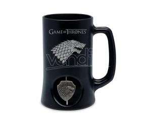 SD TOYS GAME OF T STARK SPIN LOGO BLACK STEIN BOCCALE