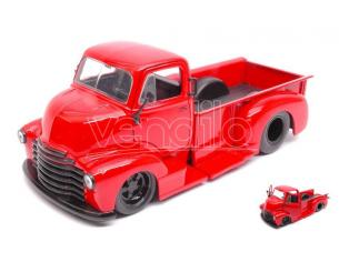 JADA TOYS JADA97046 CHEVY COE PICK UP RED BLACK WHEELS 1:24 Modellino