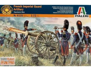 Italeri IT6135 FRENCH IMPERIAL GUARD ARTILL.KIT 1:72 Modellino