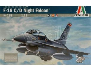 Italeri IT0188 F 16 NIGHT FALCON KIT 1:72 Modellino