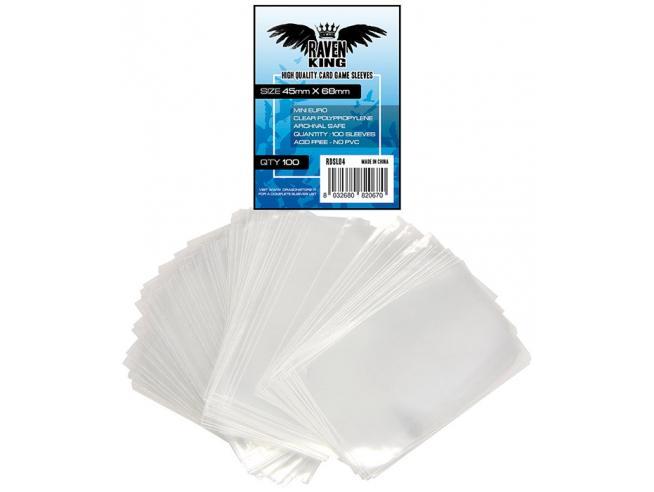Raven King Bustoine Protettive 45x68mm Card Protector - Carte Da Gioco/collezione