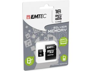 MICROSD + ADAPTER 16GB SILVER (MP3-MP4) MEMORY CARD/HARD DISK CONSOLE - MEMORIE