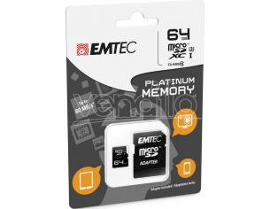 MICROSD + ADAPTER 64GB PLAT (FULL HD) MEMORY CARD/HARD DISK CONSOLE - MEMORIE