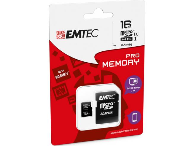 MICROSD + ADAPTER 16GB PRO (3D - 4K) MEMORY CARD/HARD DISK CONSOLE MEMORIE