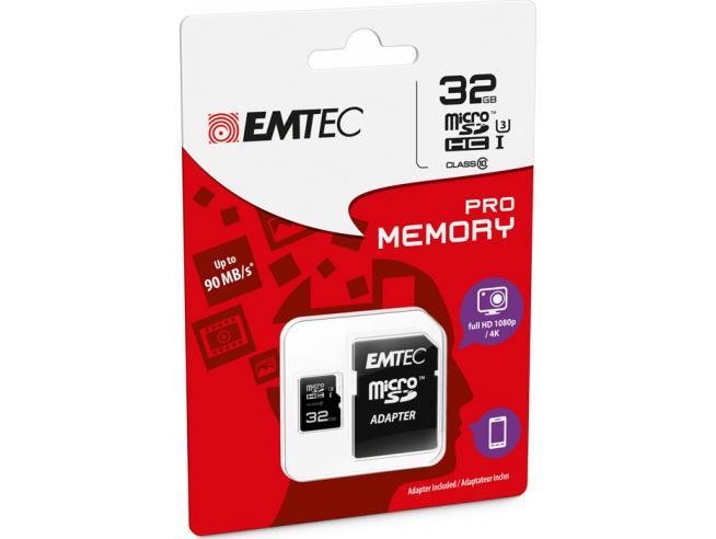 MICROSD + ADAPTER 32GB PRO (3D - 4K) MEMORY CARD/HARD DISK CONSOLE MEMORIE