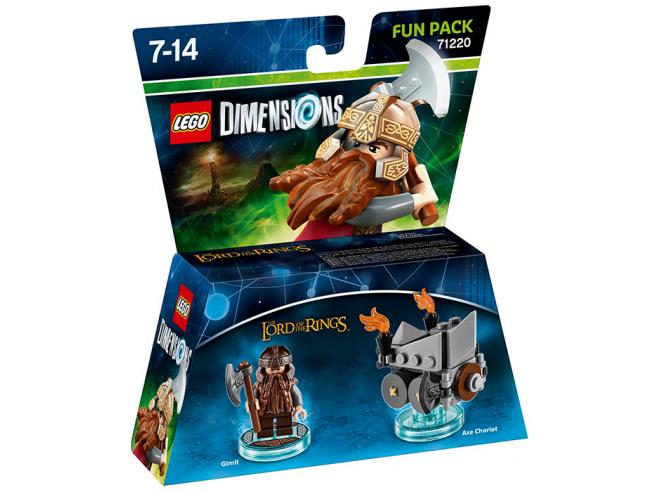 LEGO DIMENSIONS FUN PACK LOTR GIMLI - TOYS TO LIFE