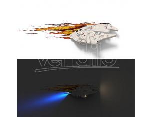 LAMPADA DA MURO 3D MILL.FALCON STAR WARS GADGET