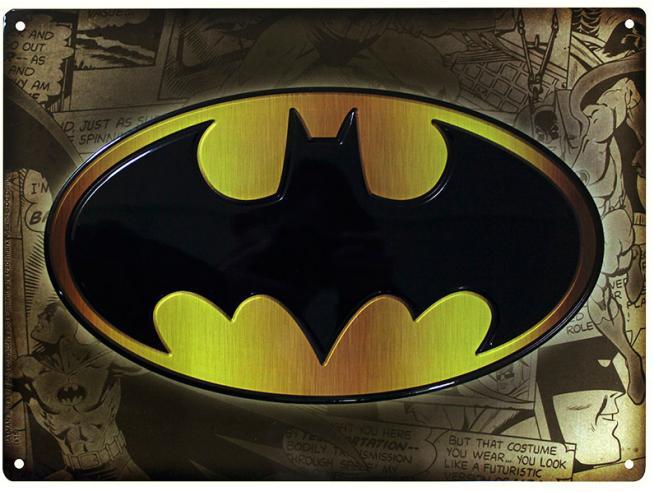TARGA METALLICA DC COMICS - BATMAN GADGET