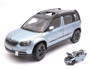 Paudi Model PD2309BL SKODA YETI 2013 METALLIC LIGHT BLUE 1:18 Modellino