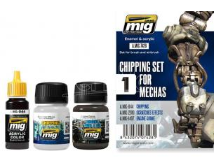 AMMO BY MIG JIMENEZ CHIPPING SET FOR MECHAS 7428 COLORI