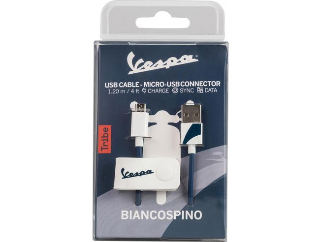 TRIBE CAVO MICRO USB 1,2M BIANCOSPINO CAVETTERIA - MOBILE/TABLET