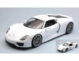 Welly WE18051HW PORSCHE 918 SPYDER HARD TOP WHITE 1:18 Modellino