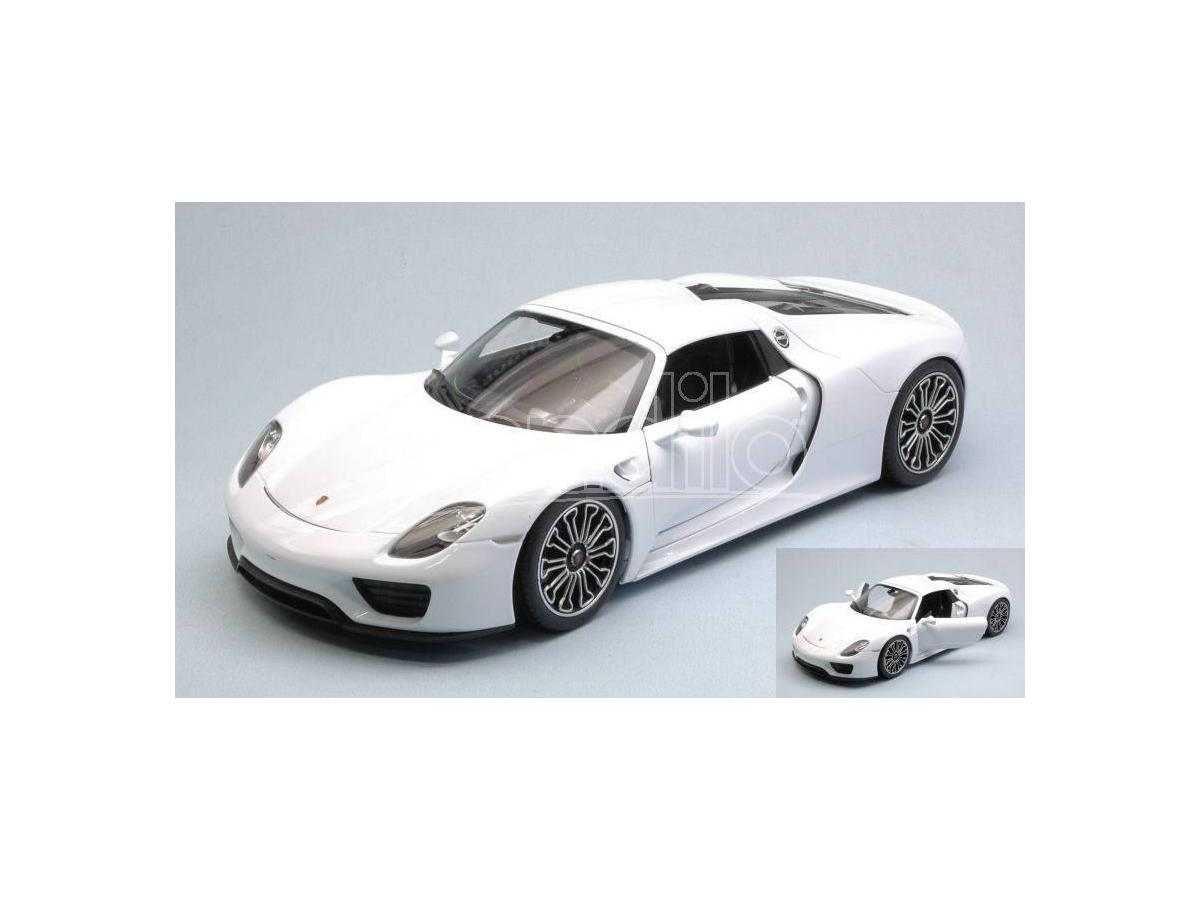 welly we18051hw porsche 918 spyder hard top white 1 18 modellino san marino. Black Bedroom Furniture Sets. Home Design Ideas