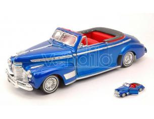 Welly WE4111 CHEVROLET SPECIAL DELUXE 1941 METALLIC BLUE 1:24 Modellino