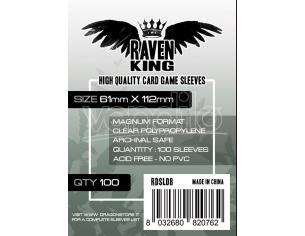 RAVEN KING - BUSTINE PROTETTIVE 61X112MM CARD PROTECTOR CARTE DA GIOCO/COLLEZIONE