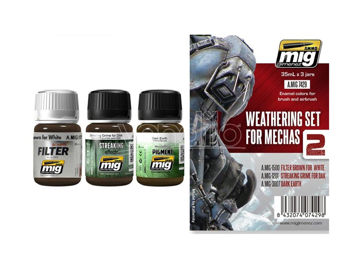 AMMO BY MIG JIMENEZ WEATHERING SET FOR MECHAS 7429 COLORI