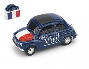 Brumm BMBR056 FIAT 500 BRUMS FRANCIA -VOILA' - C'EST LA VIE 1:43 Modellino