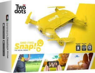 TWO DOTS SNAP THE SOCIAL DRONE GIALLO DRONI CONSUMER