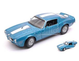 Welly WE24075B PONTIAC FIREBIRD TRANS AM 1972 BLUE W/WHITE STRIPE 1:24-27 Modellino