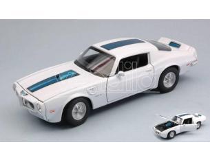 Welly WE24075W PONTIAC FIREBIRD TRANS AM 1972 WHITE W/BLACK STRIPE 1:24-27 Modellino