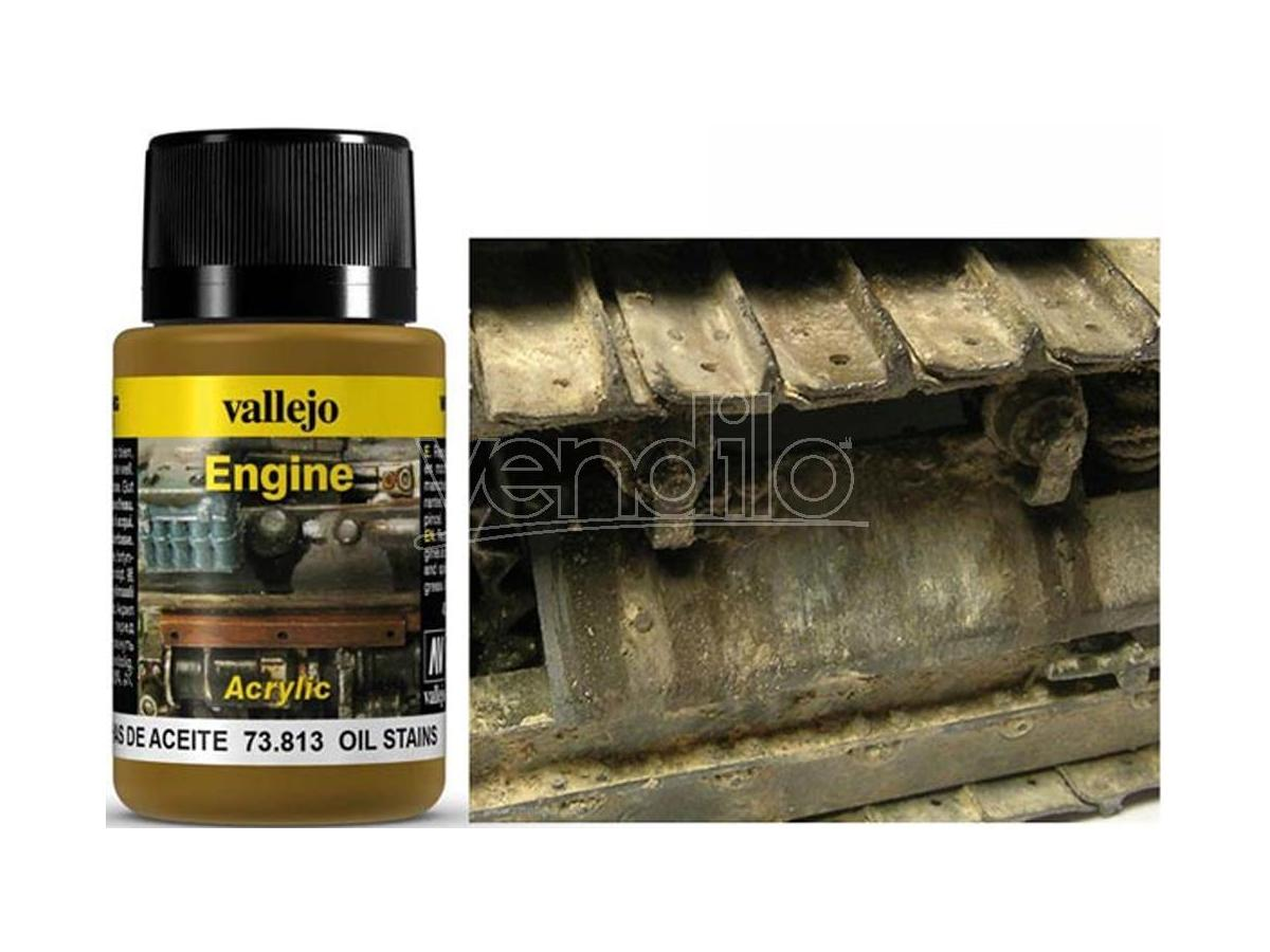 VALLEJO WEATHERING OIL STAINS 40ML 73813 COLORI