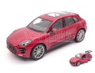 Welly WE24047R PORSCHE MACAN TURBO 2014 PRUNE METALLIC 1:24 Modellino
