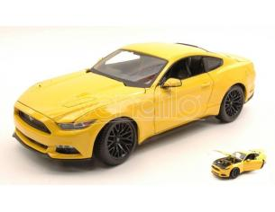 Maisto MI31197Y FORD MUSTANG GT 2015 YELLOW 1:18 Modellino