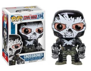Funko Capitan America Civil War POP Marvel Vinile Figura Crossbones 9 cm