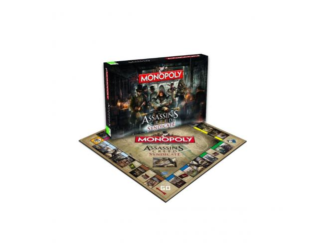 Gioco da Tavolo Monopoly Assassins Creed Syndicate Versione Italiana Winning Moves