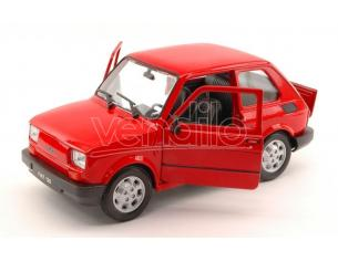 Welly WE4066R FIAT 126 1973 RED 1:24 Modellino