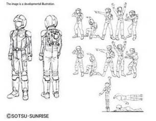 Bandai Model Kit Builders Parts Hd Ms Figura 01 1/144 Accessori