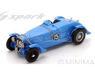 Spark Model S43LM38 DELAHAYE 135 CS N.15 WINNER LM 1938 E.CHABOUD-J.TREMOULET 1:43 Modellino